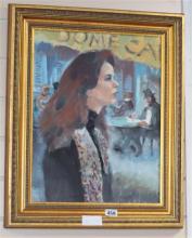 James Cleaver (1911-2003) Return to Montparnasse 17 x 13in.