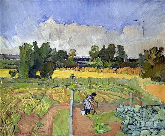 Claude Rogers (1907-1979)  The Potato Pickers 20 x 24in.