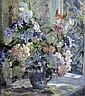 Stanley Horace Gardiner (1888-1952) Still life of flowers in a vase 24 x 21.5in., Stanley Horace Gardiner, Click for value