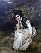 William Oliver (1823-1901) The Love Letter, William Oliver, Click for value