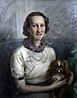 Nicholas B. Haritonoff (Russian/American 1880-1944) Portrait of a lady with a King Charles spaniel 29 x 25in., Nicholas Basil Haritonoff, Click for value