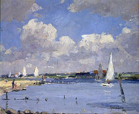 Rowland Fisher (1885-1969) Walberswick, Suffolk 12.5 x 15in.