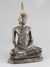 A Thai bronze seated figure of Buddha, 19th / 20th century, 38cm
