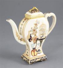 A Japanese Satsuma pottery gosu blue wine pot and cover, late 19th century, 14.5cm