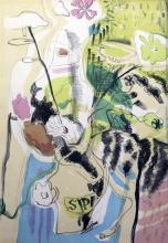 Ivon Hitchens (1893-1979) Flowers in a vase 24 x 18in.