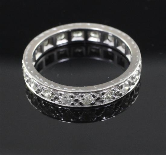 a platinum and eternity ring size m