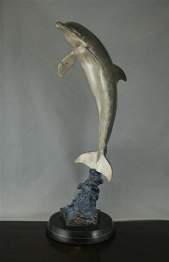 Robert Wyland, American (1956-),  'Dolphin Encounter'