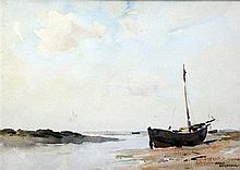 Gerald Ackermann (1876-1960) Blakeney Channel, 6.5 x 9.5in.