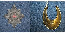 A George III gilt copper officer's gorget,
