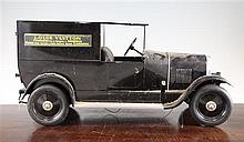 A Brepsomy tin plate Citroen B14 model car or van, 21 ins long
