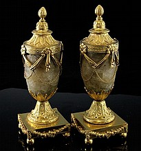 A pair of George III cassolettes by Matthew Boulton, 7.75in.