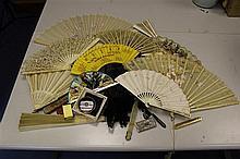 A 19th century French bone fan,