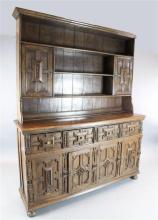 A 17th century style oak dresser, W.6ft D.1ft 8in. H.7ft 6in.
