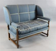 A Lenygon & Morant Cowdray settee, W.4ft 2in. D.2ft 6in. H.3ft 4in.