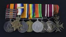 An extensive group of SA to WW2 medals to W.O, G. Ashby Royal Lancers