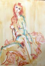 Tom Merrifield (1932-) Female nude 38 x 29in.