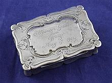 An early Victorian silver snuff box, 3.25in.