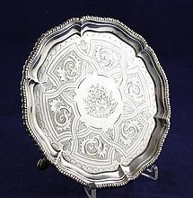 A George III silver waiter, 9 oz.