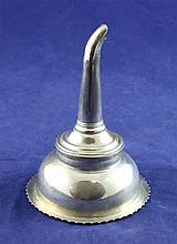 A matched George III silver wine funnel, 4.25in.