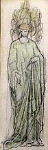 William Morris (1834-1896) Figure study, 8.5 x 3in.