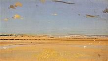 Charles Sims (1873-1928) The Sands at Dymchurch, 8.5 x 15in.