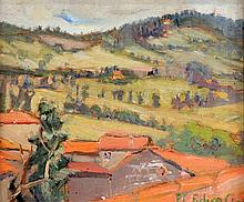 Elizabeth Campbell Fisher-Clay (American, 1871-1959) Spanish Pyrenees, 8 x 9.75in.