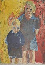 Felix Gluck (1923-1981) Young girls, 17 x 13in.