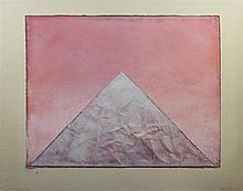 Derek Hirst (1930-2006) Sacred Mountain 6th View overall 31 x 39.5in.