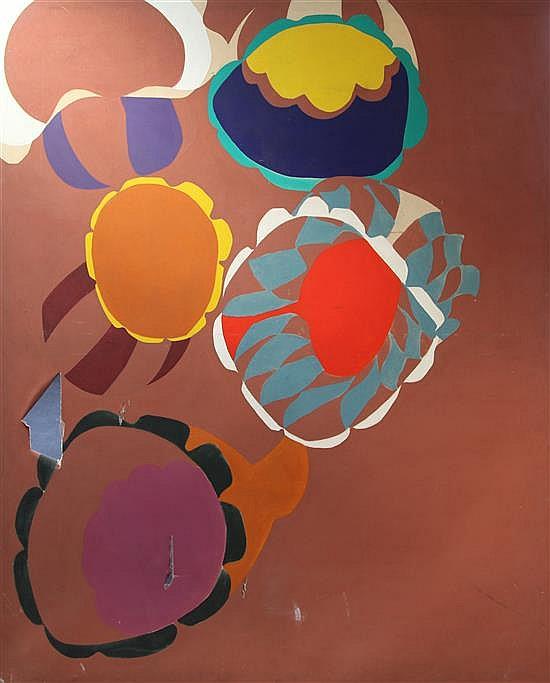 § Gillian Ayres (b.1930) Kush, 81.5 x 69in.