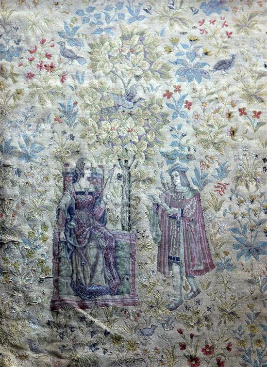 A 17th century style tapestry, W.4ft 4in. H.6ft 4in.