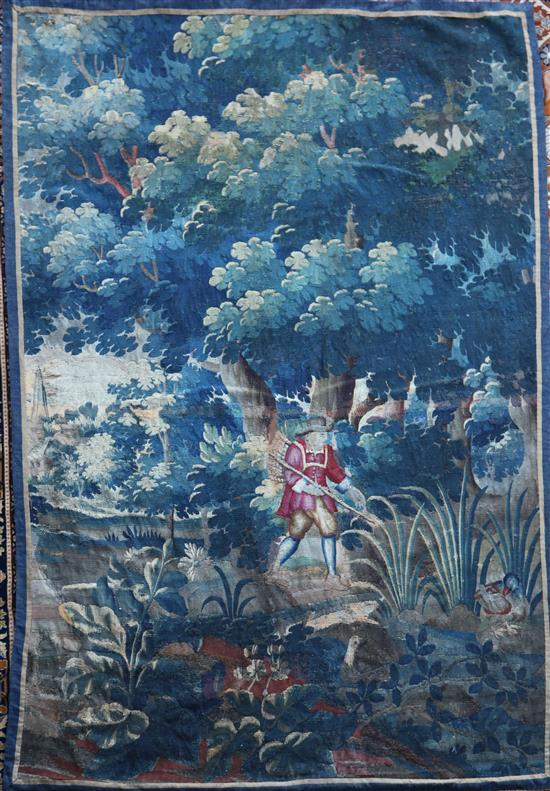 An 18th century Brussels tapestry fragment, 7ft 6in. x 5ft 3in.