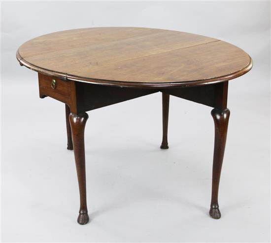 A George II mahogany drop leaf dining table, W.3ft 6in. H.2ft 6in.