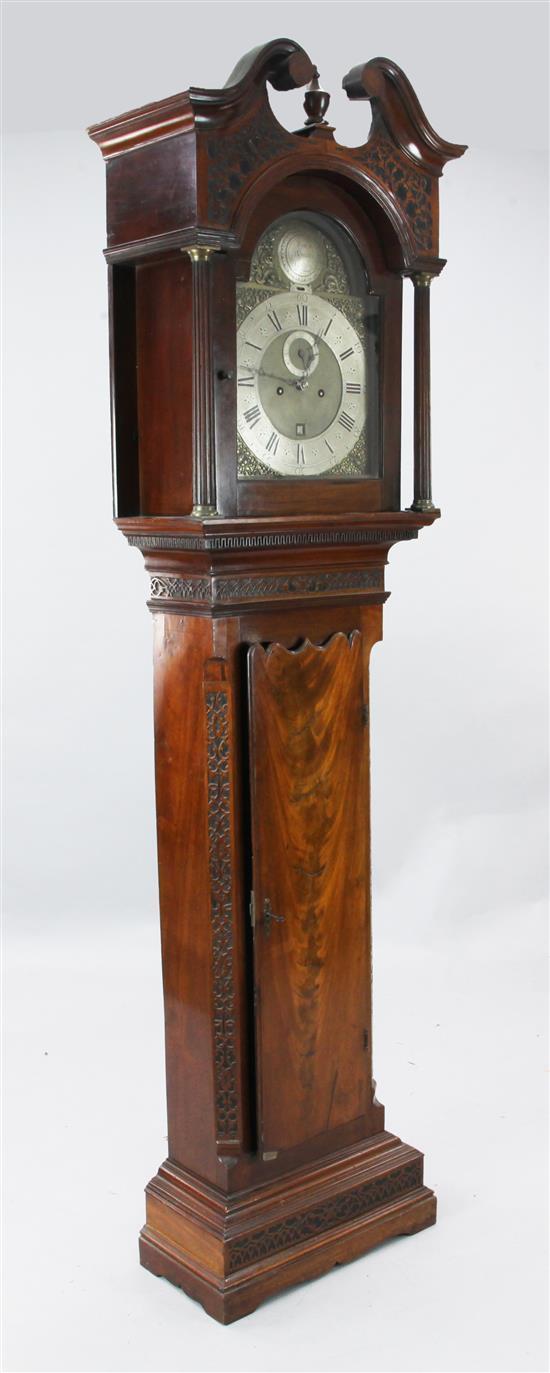 James Rowley of London. An 18th century mahogany eight day longcase clock, 6ft 8in.