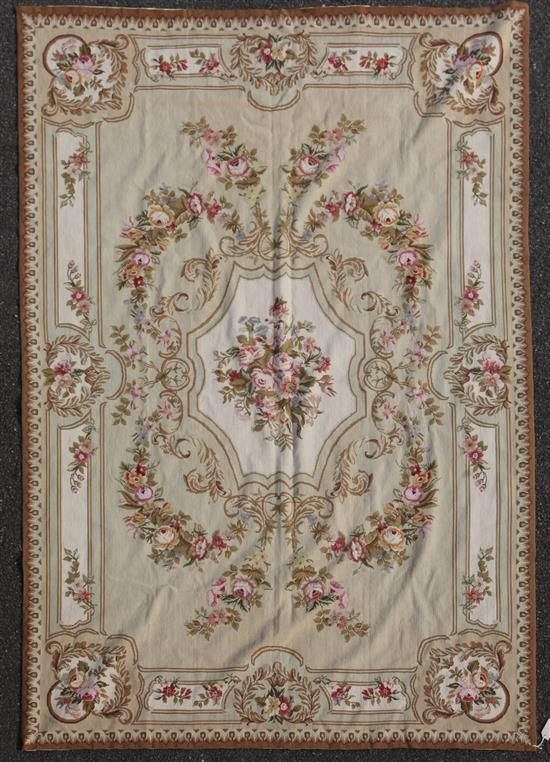 An Aubusson style tapestry, 9ft 1in by 5ft 11in.