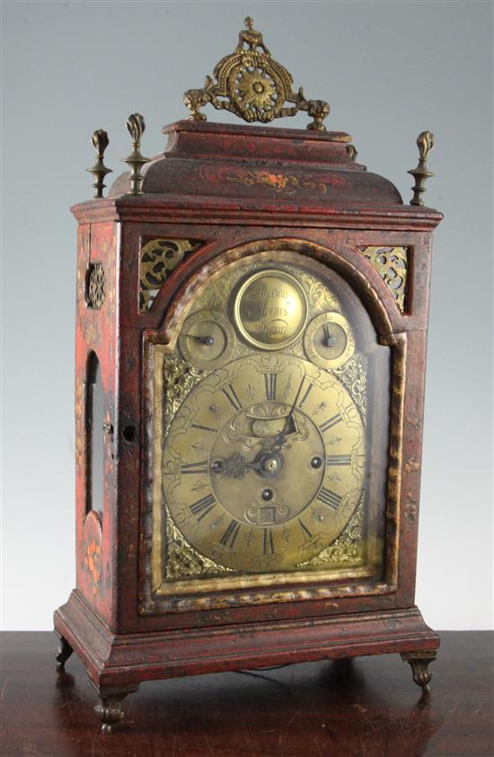 Simonn Araus, Wienn. An 18th century Viennese bracket clock, 20.5in.