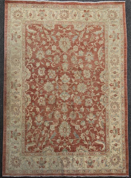 An Aubusson style carpet, 10ft 3in by 8ft 2in.
