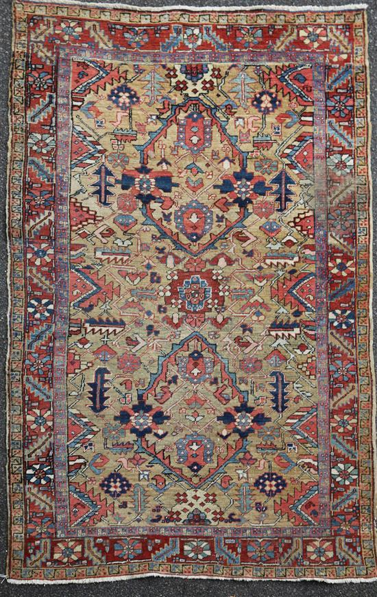 A Kazak rug, 7ft 9in by 5ft.