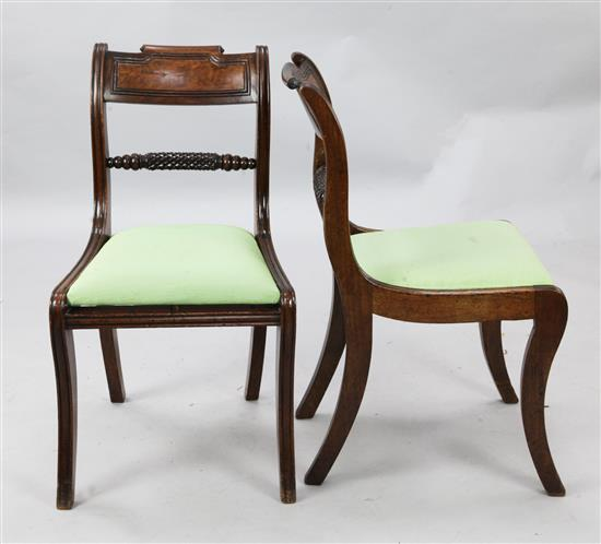 A set of six Regency mahogany dining chairs,