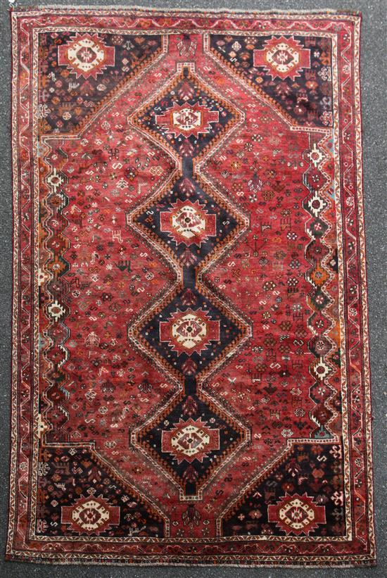 A Shirvan carpet, 9ft 10in by 6ft 11in.