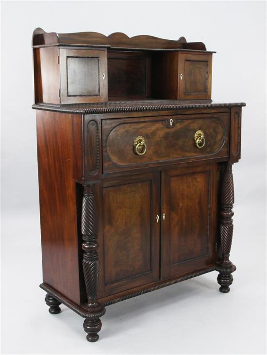A Regency mahogany secretaire chiffonier, W.3ft 2in. D.1ft 6in. H.4ft 6in.
