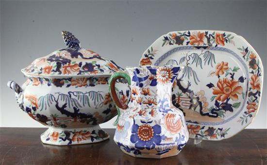 A group of English ironstone wares, first half 19th century,
