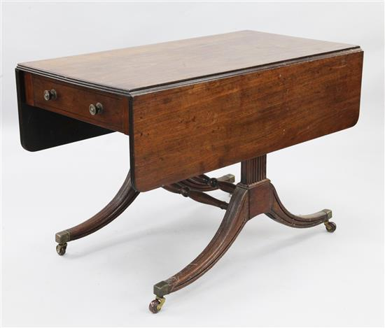 A Regency mahogany Pembroke table, W.3ft 8in. H.2ft 5in.