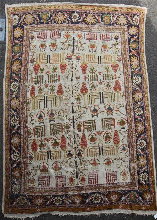A late 19th century North West Persian Ziegler carpet, 13ft 5in by 10ft 8in.