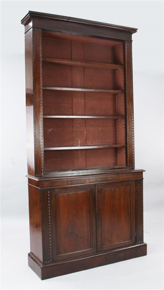 A Victorian mahogany bookcase, W.3ft 8in. D.1ft 2in. H.7ft 5in.