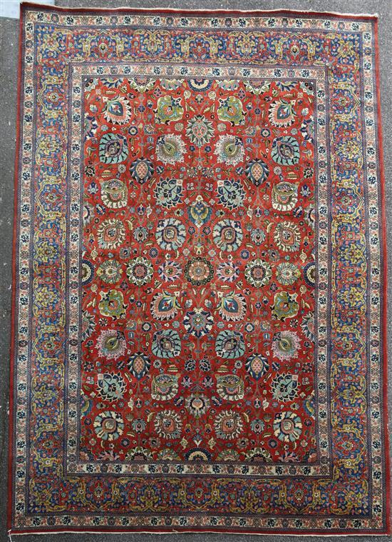 A Tabriz carpet, 11ft by 8ft 7in.