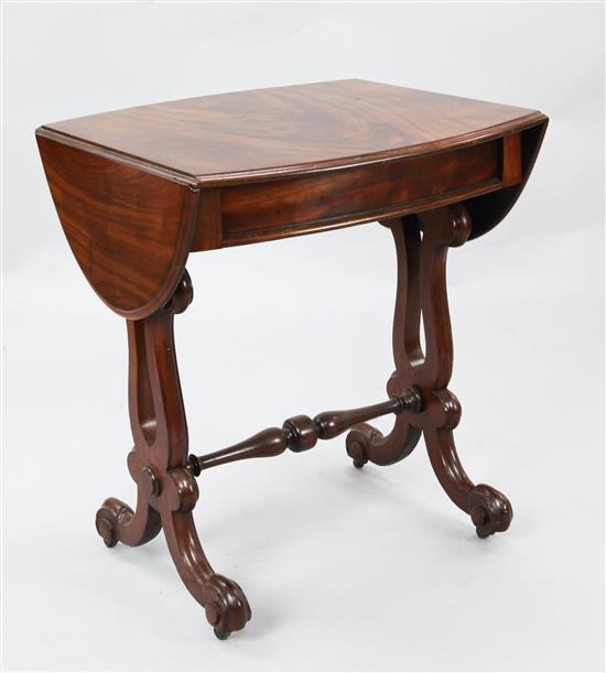 A 19th century Continental mahogany occasional table, W.2ft 1in. D.2ft H.2ft 6in.