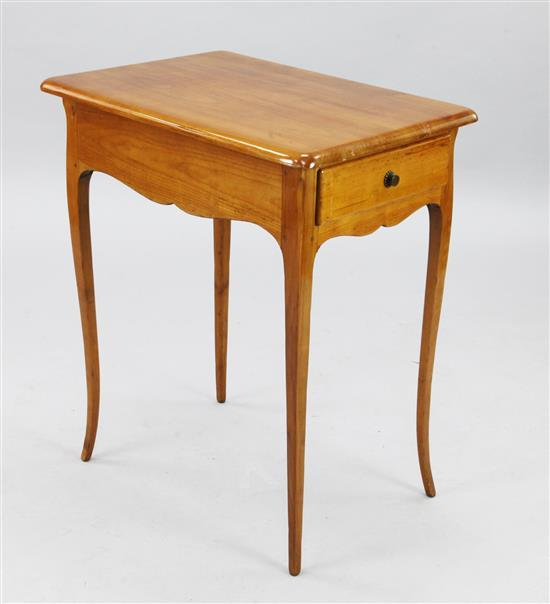 A Biedermeier cherrywood occasional table, W.2ft D.1ft 5in. H.2ft 4in.