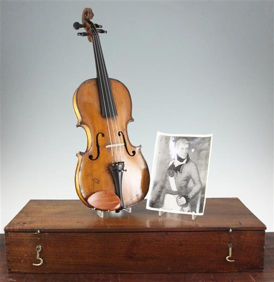 An early 19th century Mittenwald violin,