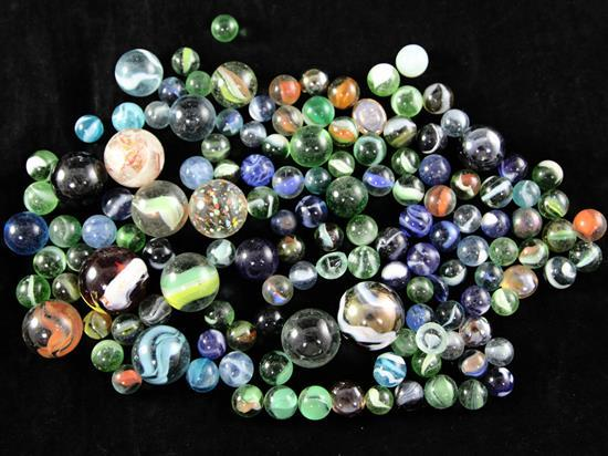 A collection of assorted Victorian and later marbles
