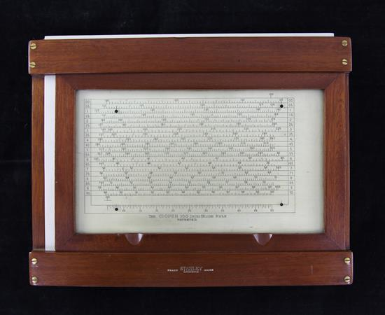 A 'Cooper' 100 inch slide rule, made by Stanley, 9.75in.